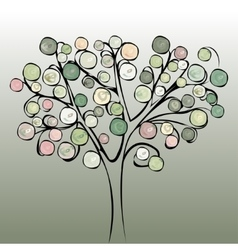 Tree colorful abstract background vector image