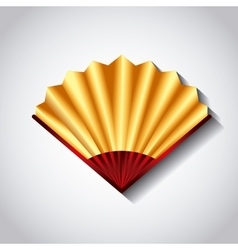 chinese fan accessory vector image