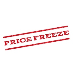Price freeze watermark stamp vector
