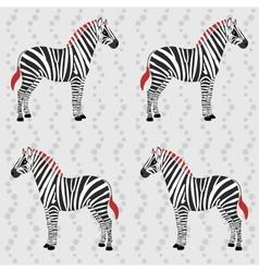 Zebra pattern with flower stripes vector image