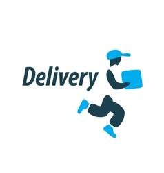 delivery logo vector image