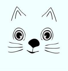 Kitty cute funny cartoon cat head vector