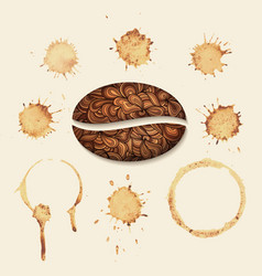 Coffee stains on the paper isolated vector