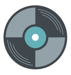 Vinyl disk icon isolated vector