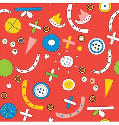 Seamless ethnic pattern funny vector image