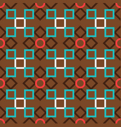 Brown turkish ornamental ceramic tile vector