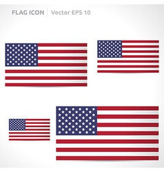 United states flag template vector