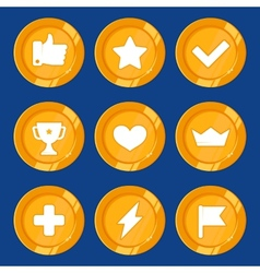 Cartoon gamification badges vector