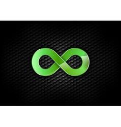 infinity green dark vector image