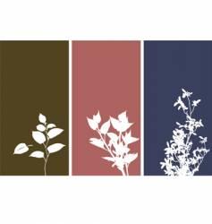 Floral banner background vector