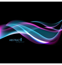 Abctract hi-tech background with waves for screen vector