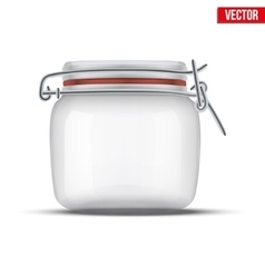 Glass jar for canning and preserving vector