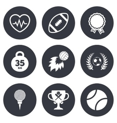 Sport games fitness icon football golf vector