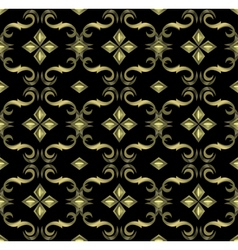 seamless expensive Victorian pattern in retro vector image