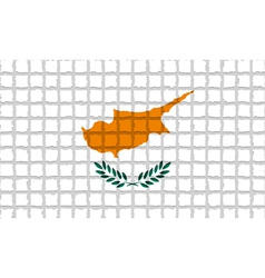 The mosaic flag of cyprus vector