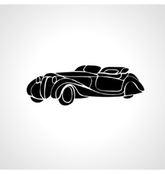 Classic car silhouette retro hot rod vector