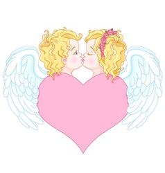 Angels in Love vector image vector image