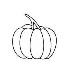 Autumn pumpkin icon outline style vector image vector image