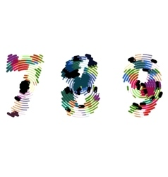 Bright creative cartoon comic radial alphabet vector image vector image