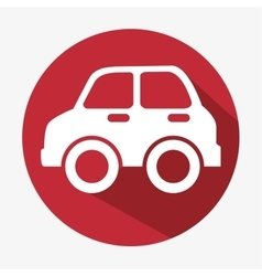Car icon concept eco red button vector