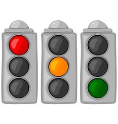 cartoon traffic lights set vector image vector image