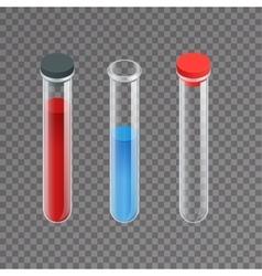 Chemical test tube pictogram icons set erlenmeyer vector