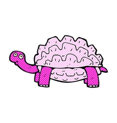 Comic cartoon tortoise vector