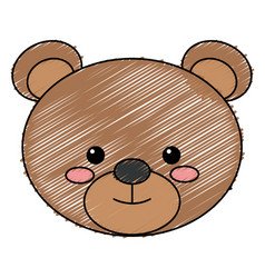 Cute and tender bear vector