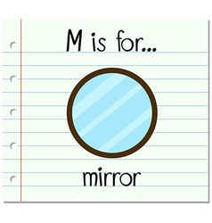 Flashcard letter m is for mirror vector
