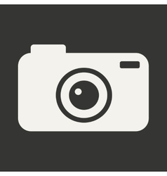 Flat in black and white mobile application camera vector