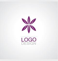 Flower abstarct logo vector