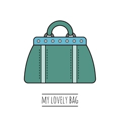Hand bag isolated Color flat icon object vector image vector image