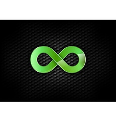 infinity green dark vector image