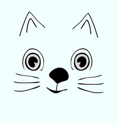 Kitty cute funny cartoon cat head vector