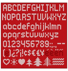 Knitted alphabet vector