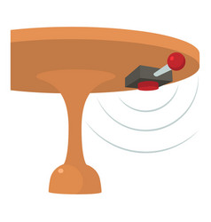 Listening device icon cartoon style vector