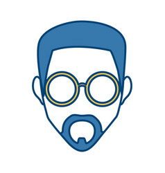 man face with glasses vector image
