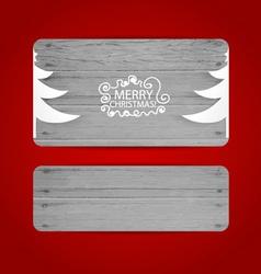 Merry christmas gift card design vector
