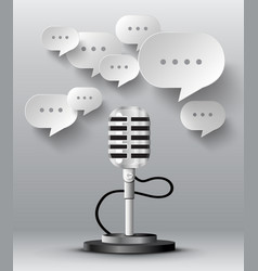 microphone with bubble speech vector image