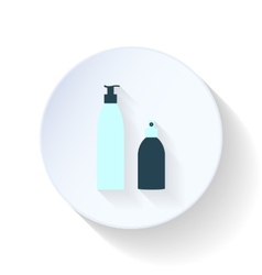 Mousse and hairspray flat icon vector