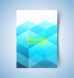 multipurpose layout design 5 vector image vector image