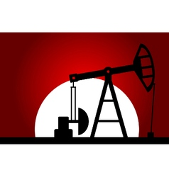 Oil pump silhouette vector image vector image