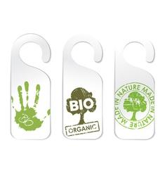 organic bio vector image
