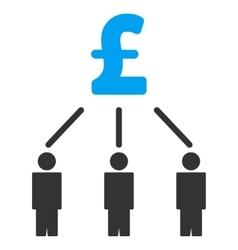 Pound crowdfunding flat icon symbol vector