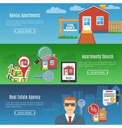 Real estate flat horizontal banners vector