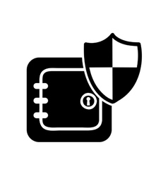 safe box security isolated icon vector image vector image