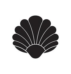 Seashell silhouette vector