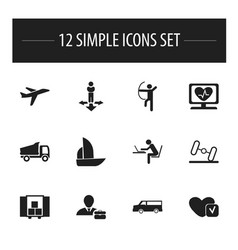 Set of 12 editable complicated icons includes vector