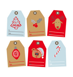 Set of tags for gifts vector