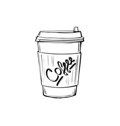 sketch coffee cup vector image